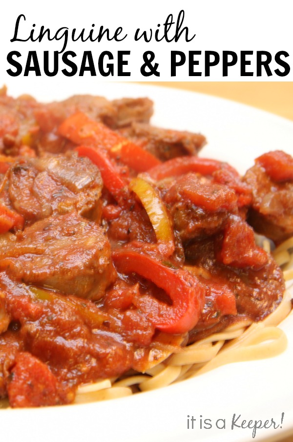 Linguine with Sausage and Peppers - It is a Keeper