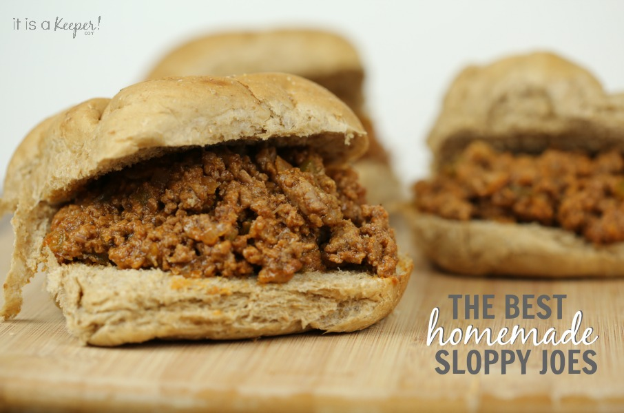 The Best Homemade Sloppy Joes Recipe - It Is a Keeper