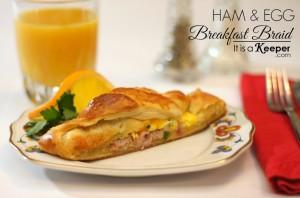 Christmas breakfast menu ham and egg breakfast braid - it is a keeper