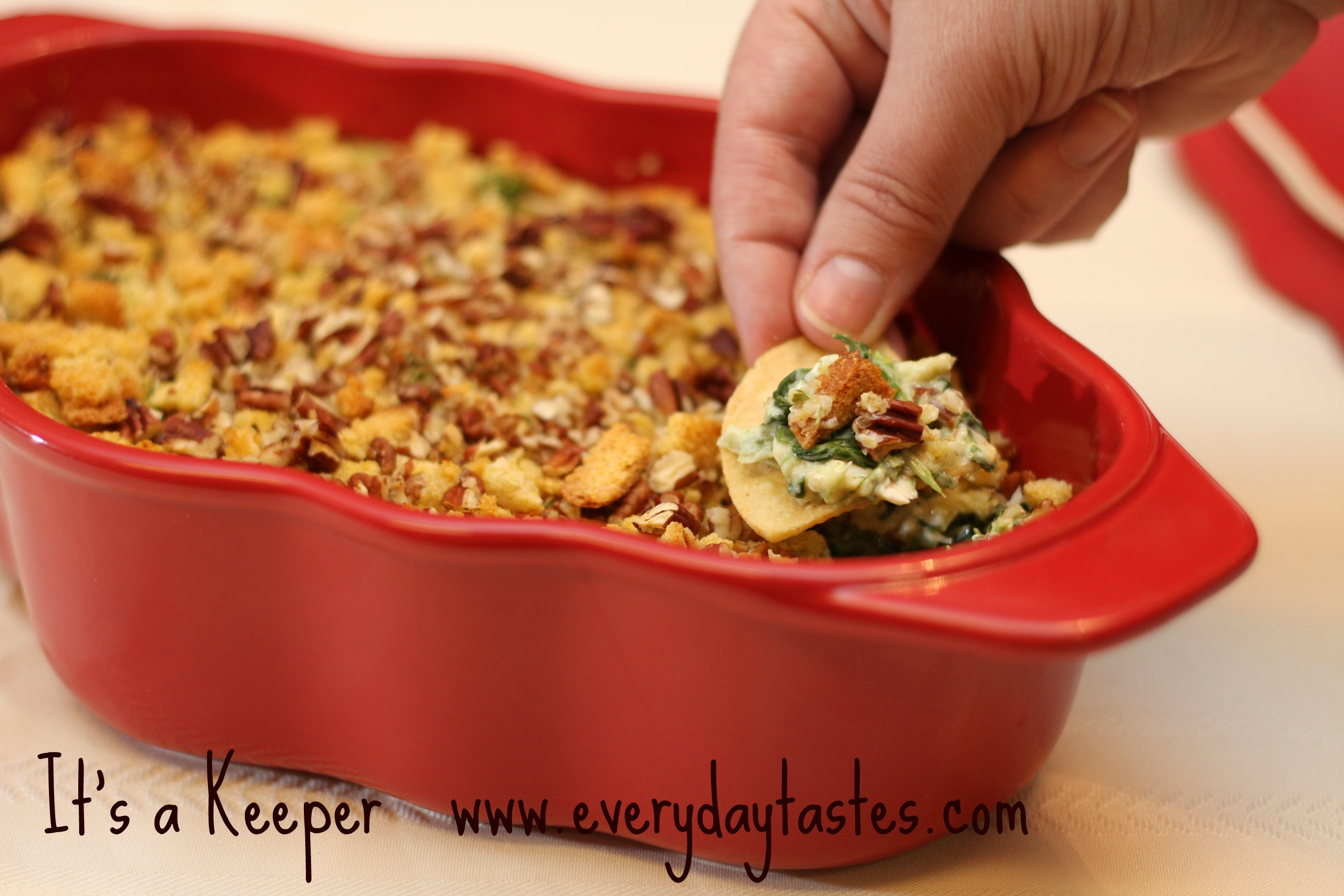 Football Food: The Best Baked Spinach Artichoke Dip - It Is a Keeper