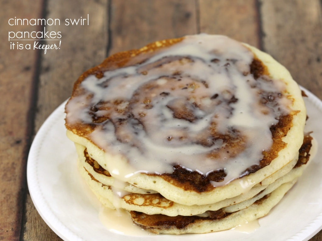 Cinnamon Swirl Pancakes Recipe - are a decadent breakfast treat