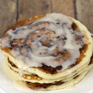 Cinnamon Swirl Pancakes Recipe - are a decadent breakfast treat