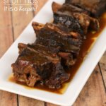Slow Cooker Beer Braised Short Ribs - this easy crock pot recipe is one of my most popular recipes