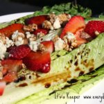 Grilled Salad with Strawberry Balsamic Reduction
