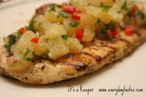Garlic Lime Chicken with Pineapple Jalapeno Salsa It's a Keeper
