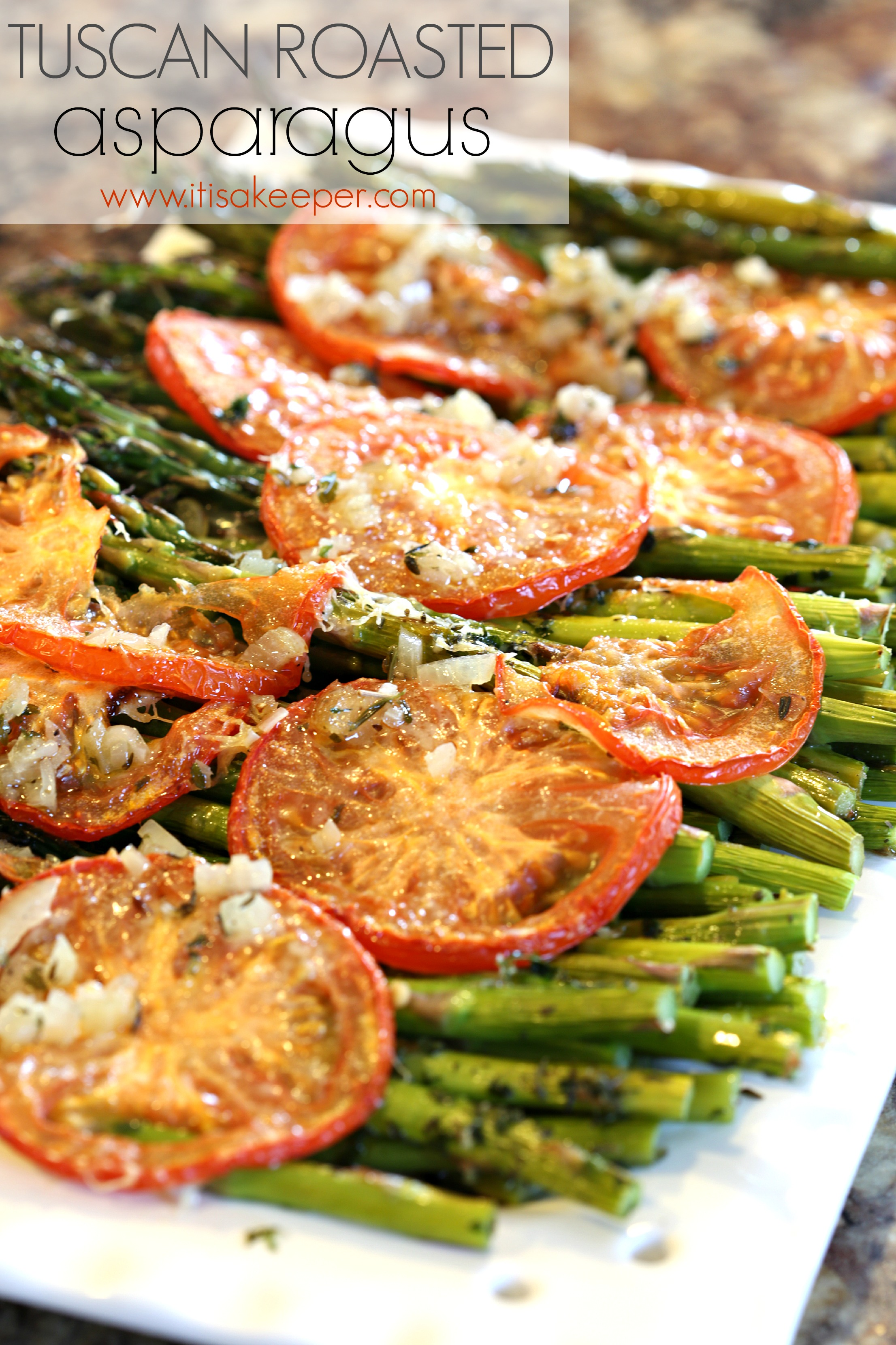 Tuscan Roasted Asparagus | It is a Keeper