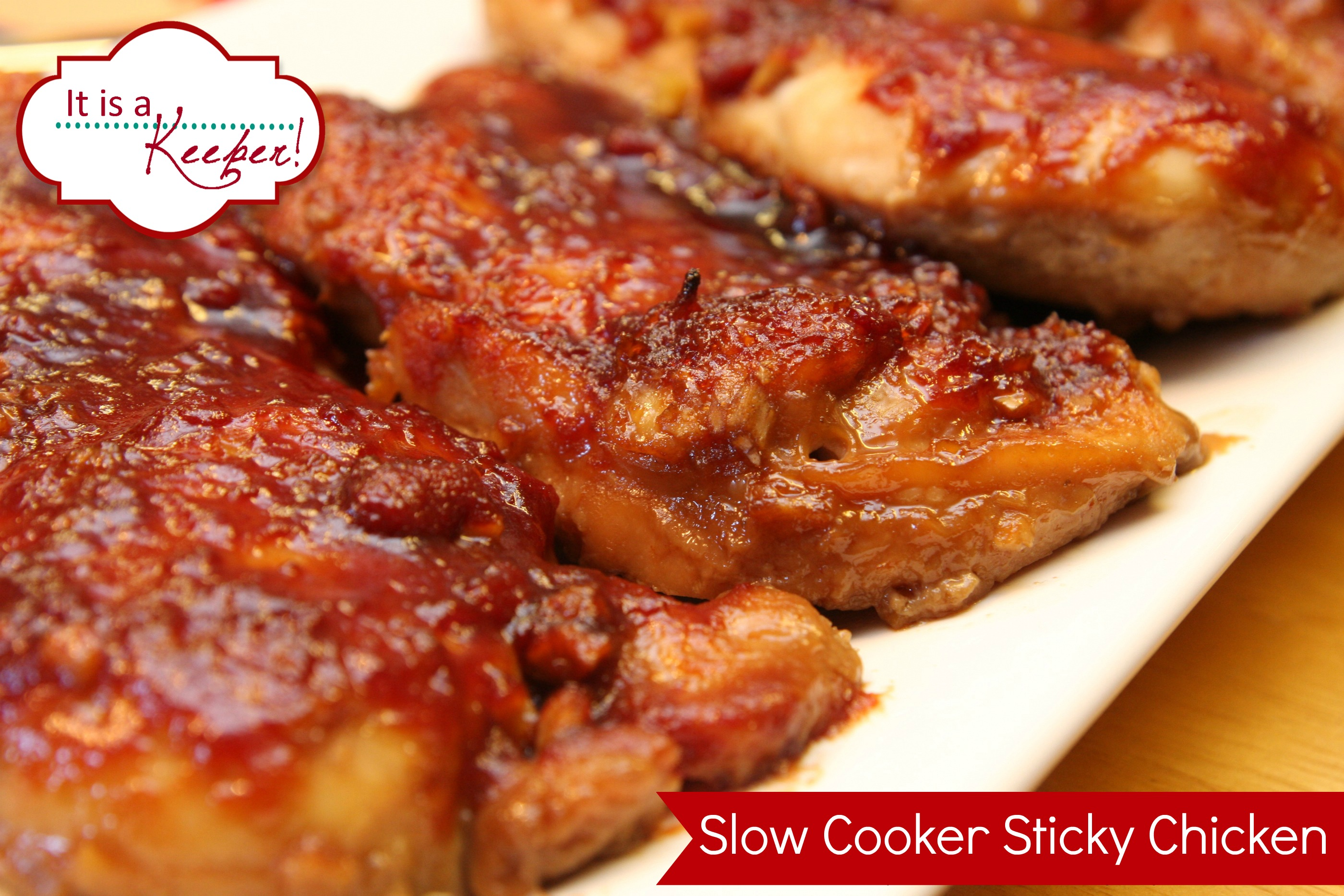 Easy crock pot recipes slow cooker sticky chicken