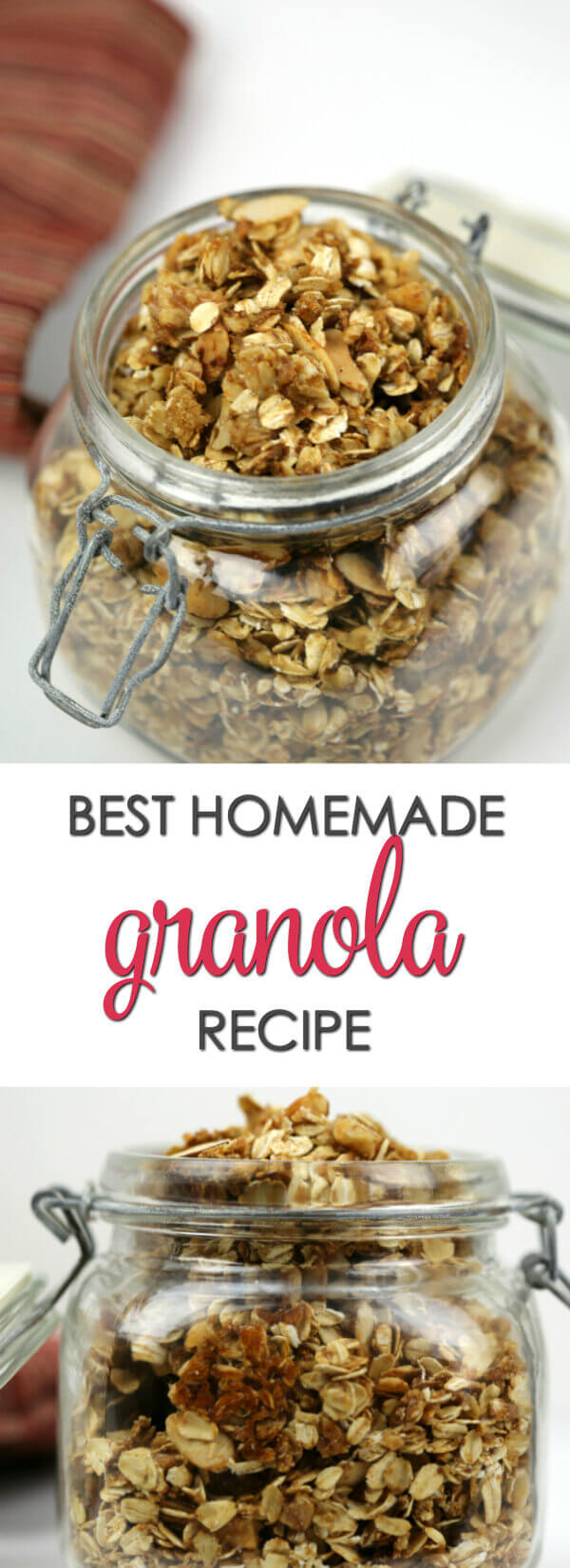 Best Ever Homemade Granola - look no further! This is the best homemade granola recipe you will ever find