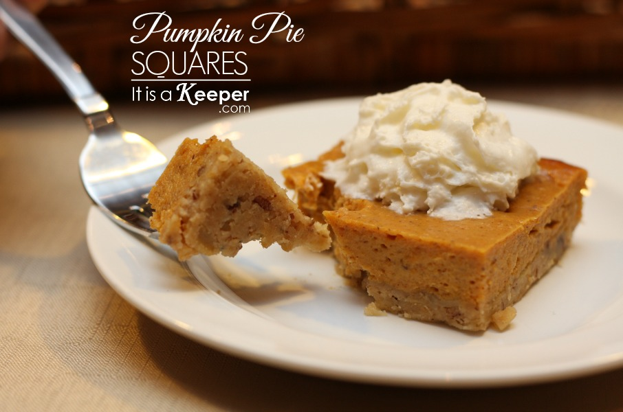 Pumpking Pie Squares - It Is a Keeper CONTENT