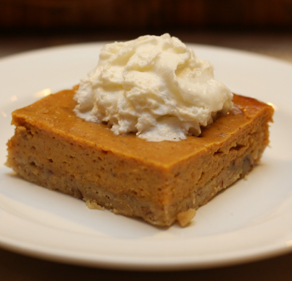 Thanksgiving Menu Recipes: Pumpkin Pie Squares
