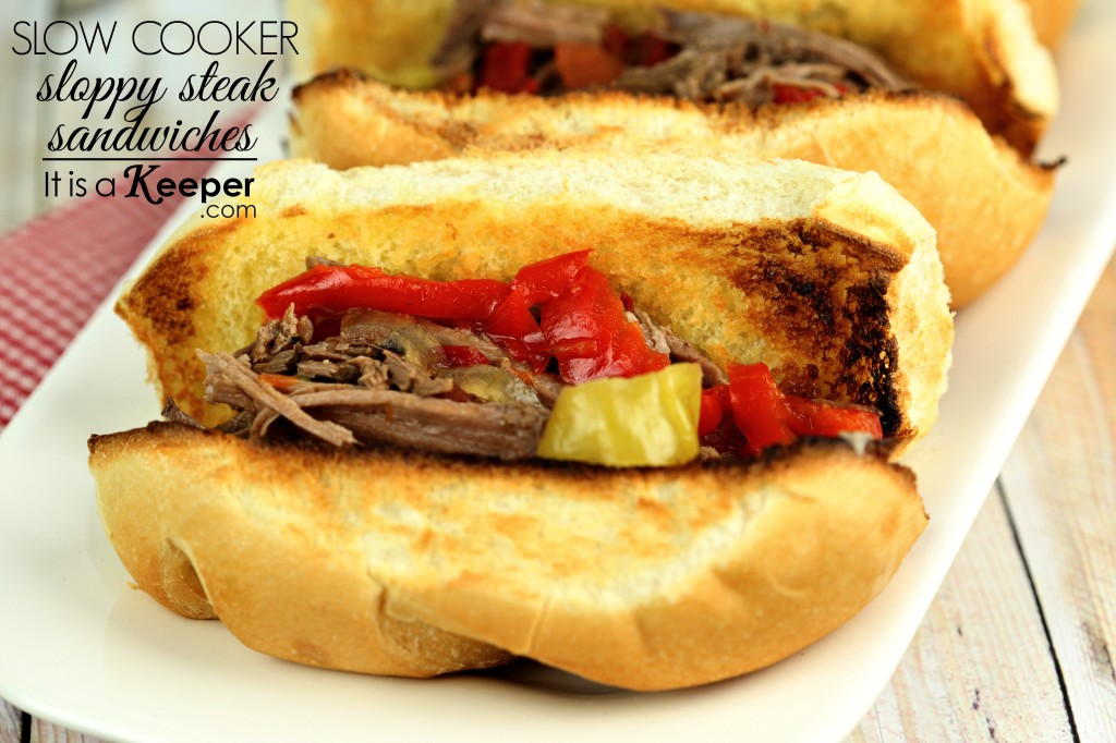 Slow Cooker Sloppy Steak Sandwiches - It's a keeper CONTENT