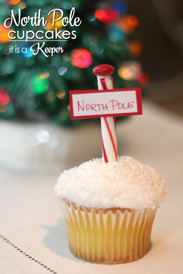 North Pole Cupcakes - these easy cupcakes are a fun Christmas treat