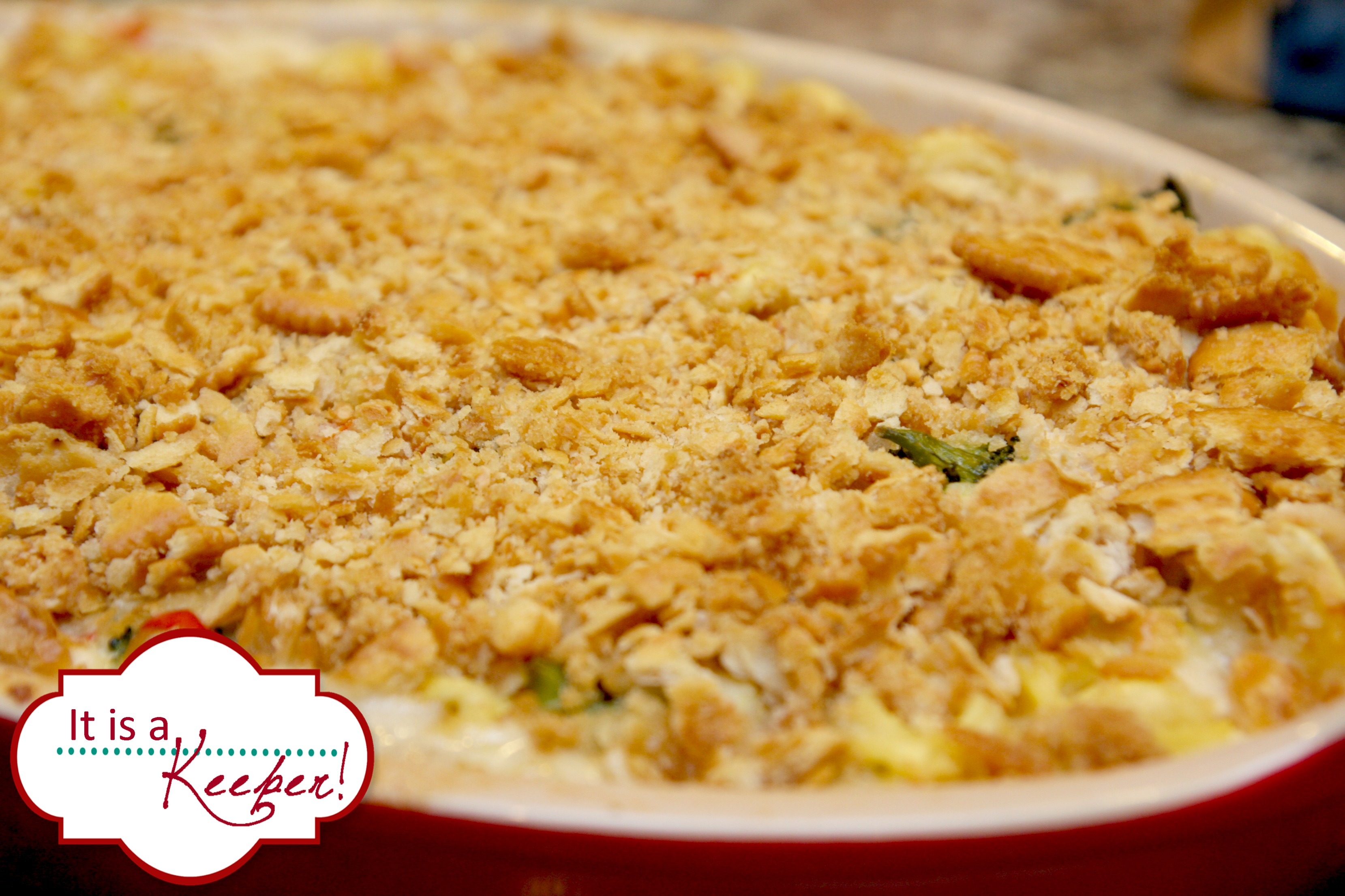 Creamy Chicken Tortellini Bake 1 It's a Keeper