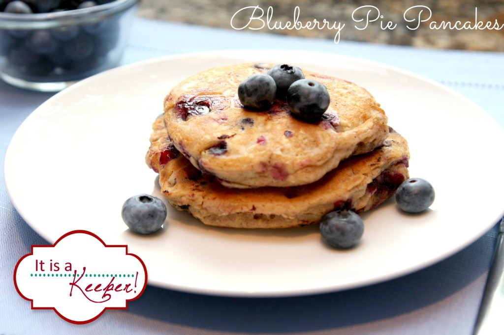 Blueberry Whole Wheat Pancakes from It's a Keeper