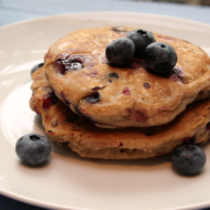 Whole Wheat Blueberry Pancakes - It Is a Keeper F