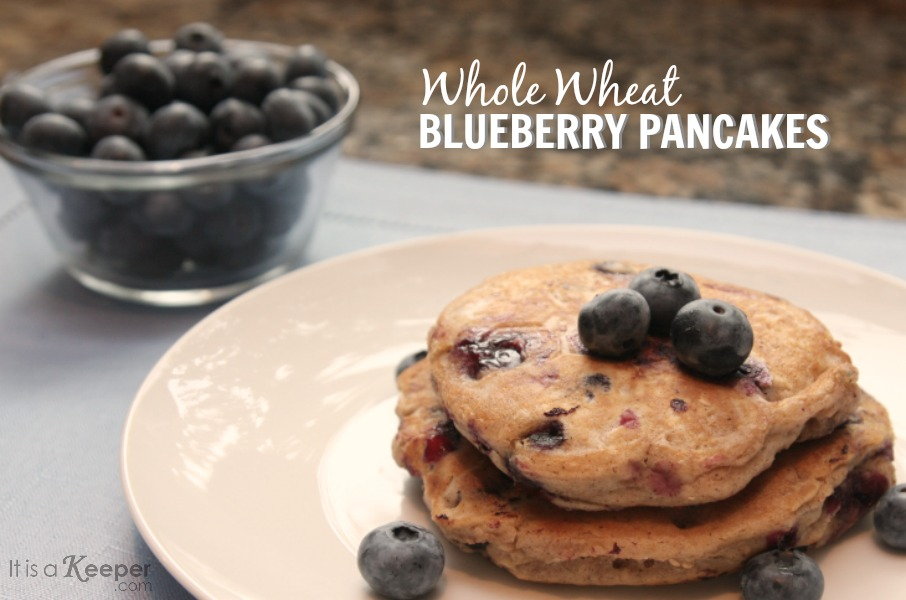 Whole Wheat Blueberry Pancakes - It Is a keeper