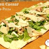 Chicken Caesar Salad Grilled Pizza