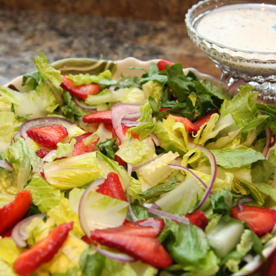Strawberry Salad with Poppyseed Dressing