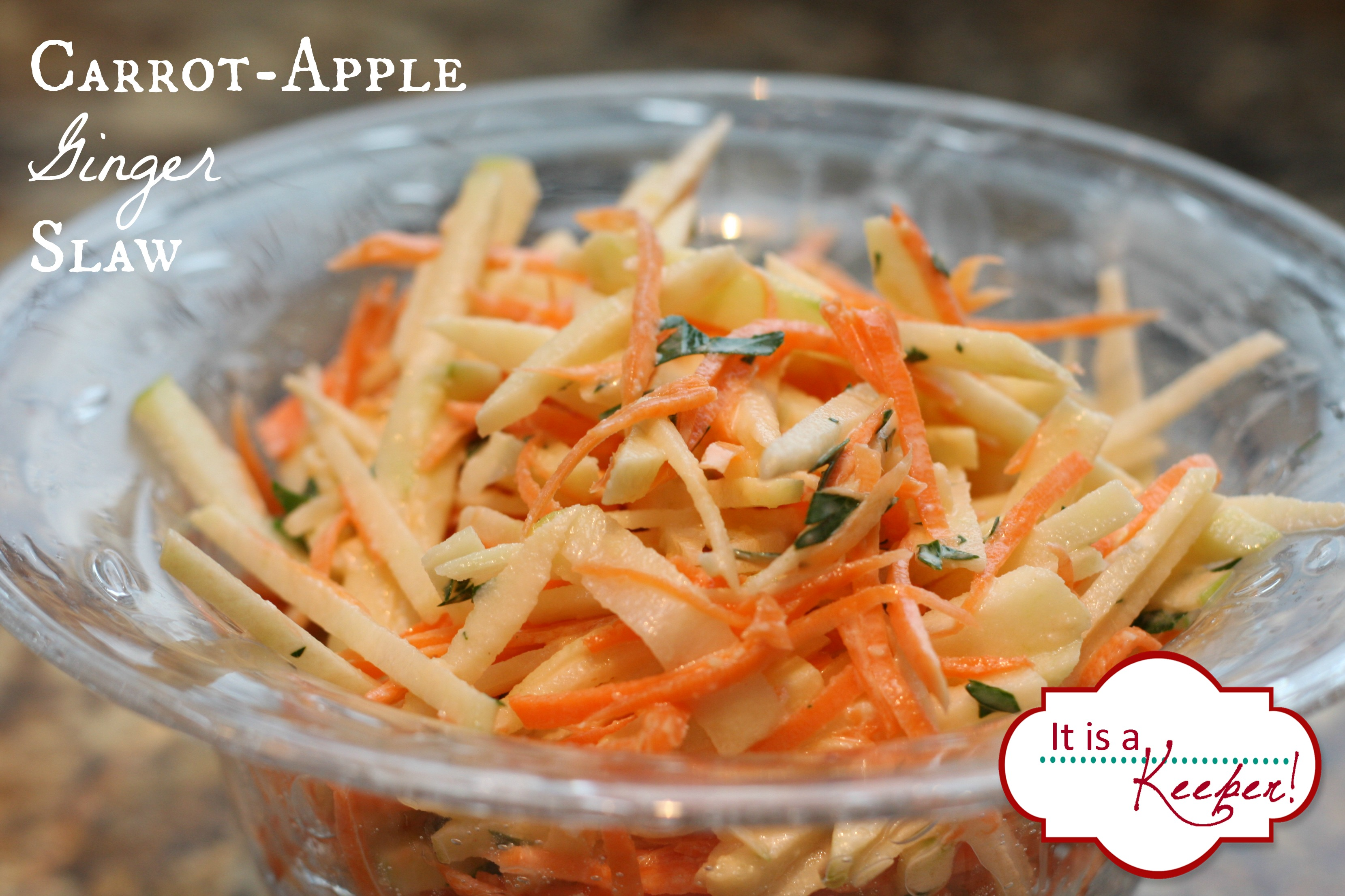 Carrot Apple Ginger Slaw