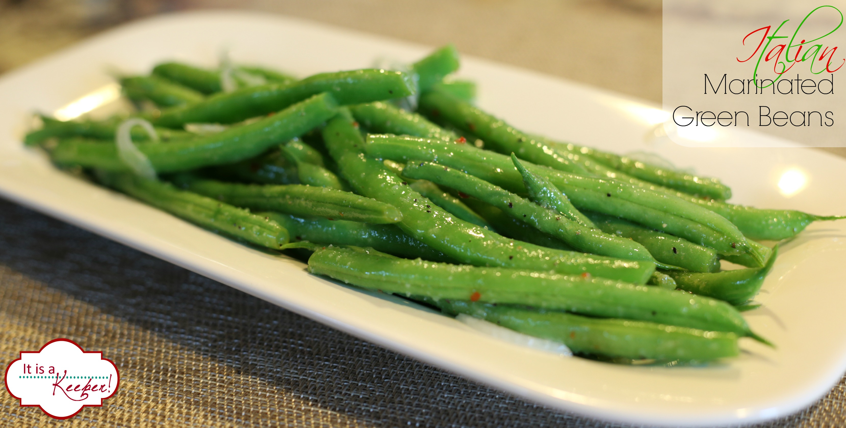 Italian Marinated Green Beans It's a Keeper