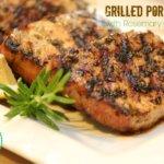 Grilled Pork Chops with Rosemary Garlic Rub