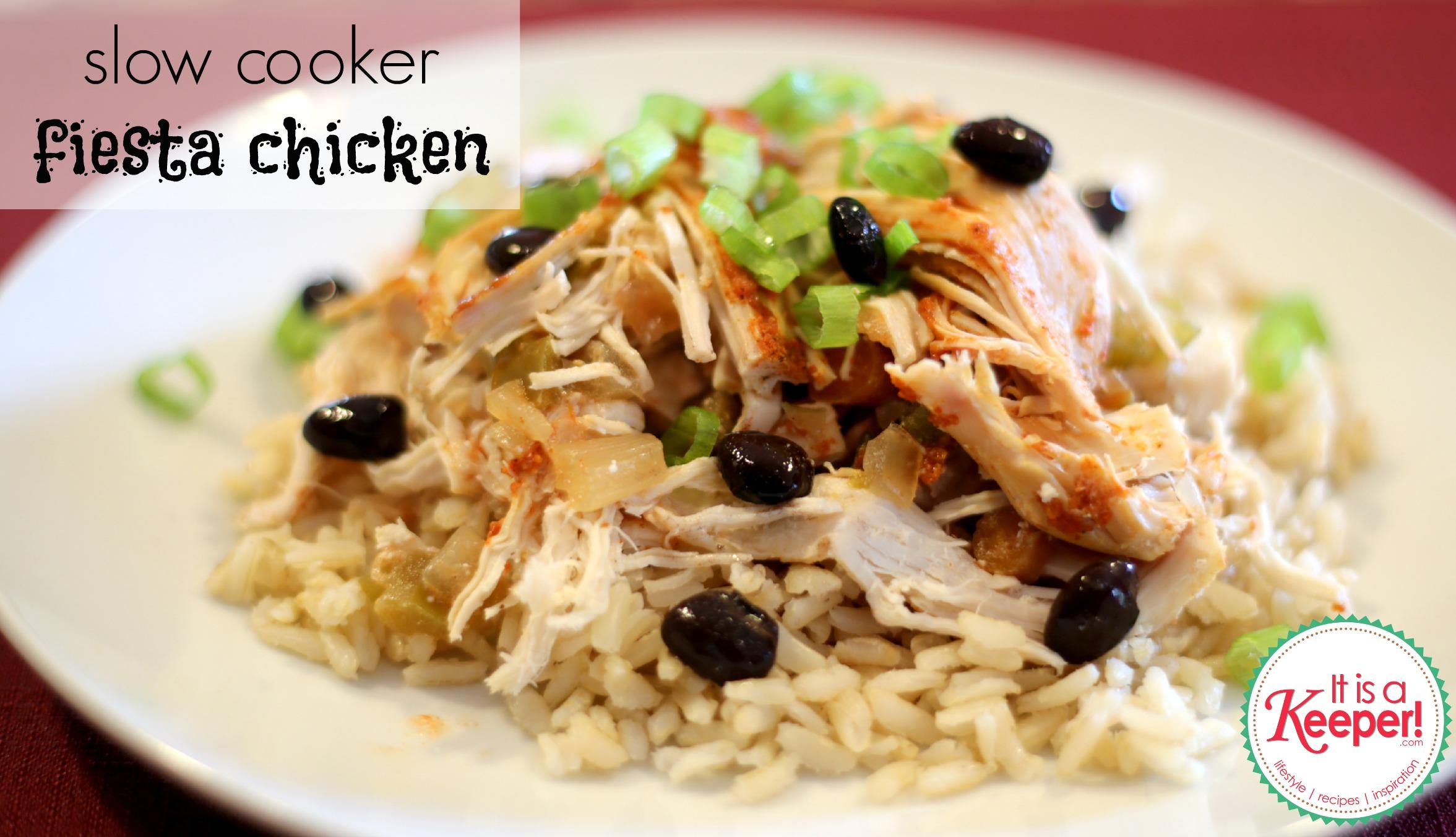 Easy Crock Pot Recipes Fiesta Chicken It Is A Keeper