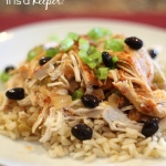 Slow Cooker Fiesta Chicken - this easy and healthy crock pot recipe is one of my favorite skinny recipes