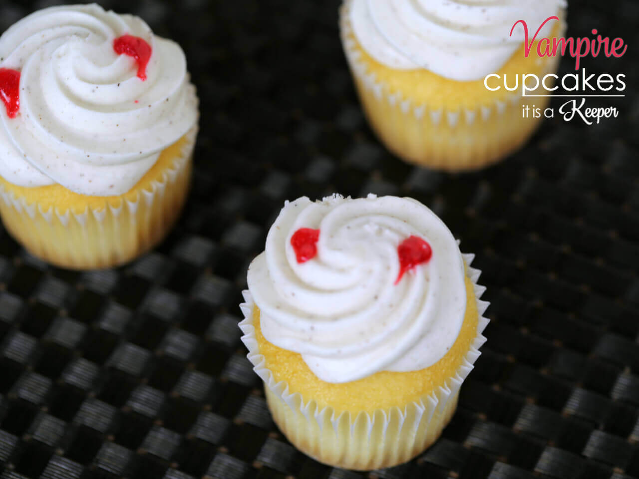 These Vampire Halloween Cupcakes are one of my favorite easy Halloween treat recipes