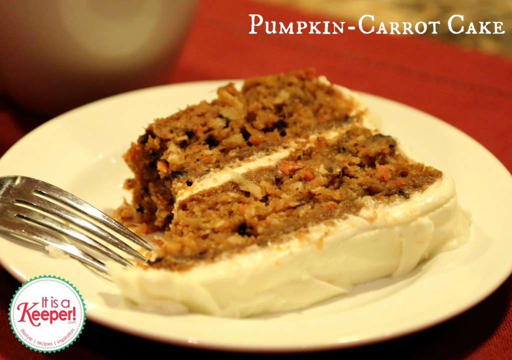 Pumpkin Carrot Cake It's a Keeper