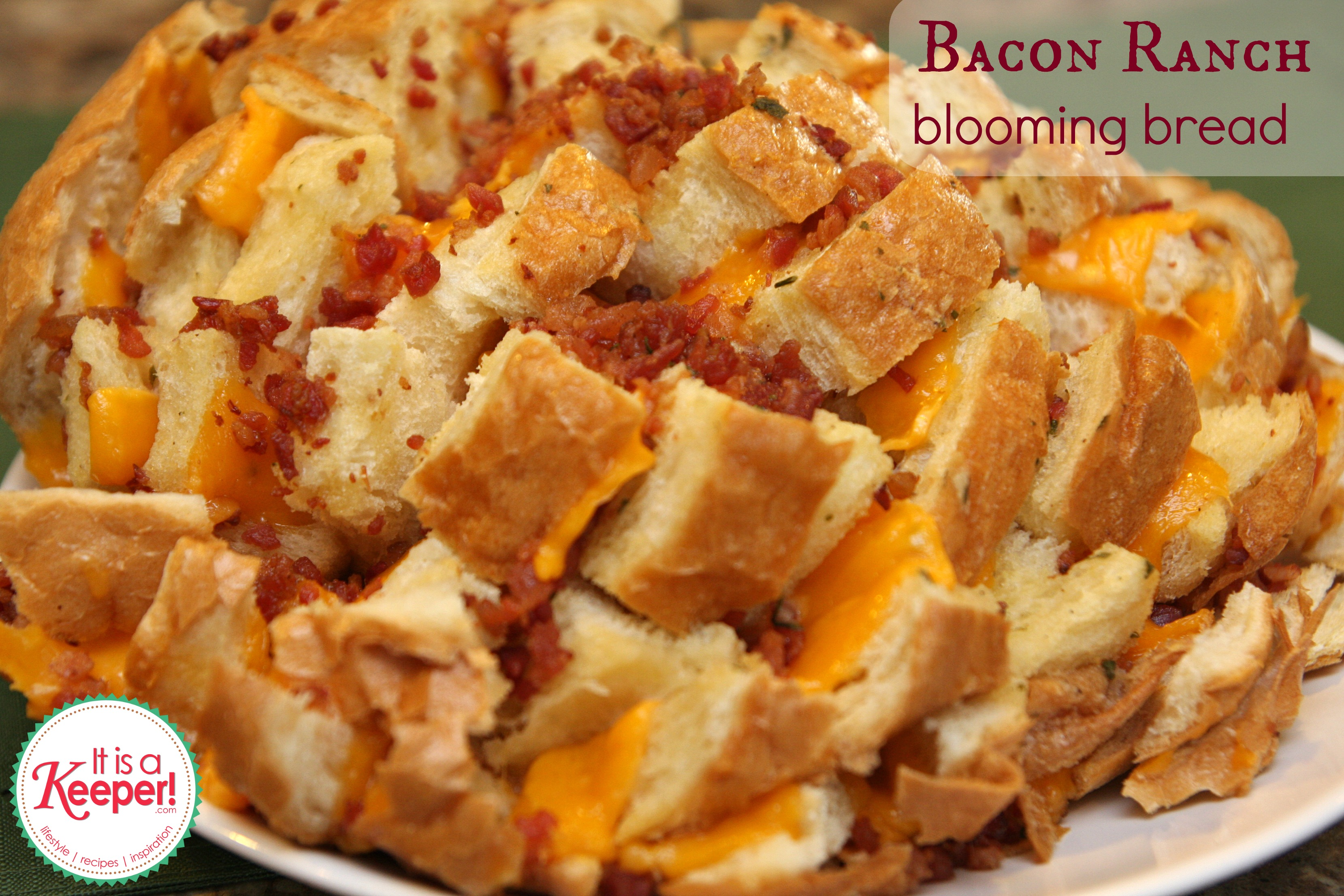 Easy Appetizers: Bacon Ranch Blooming Bread