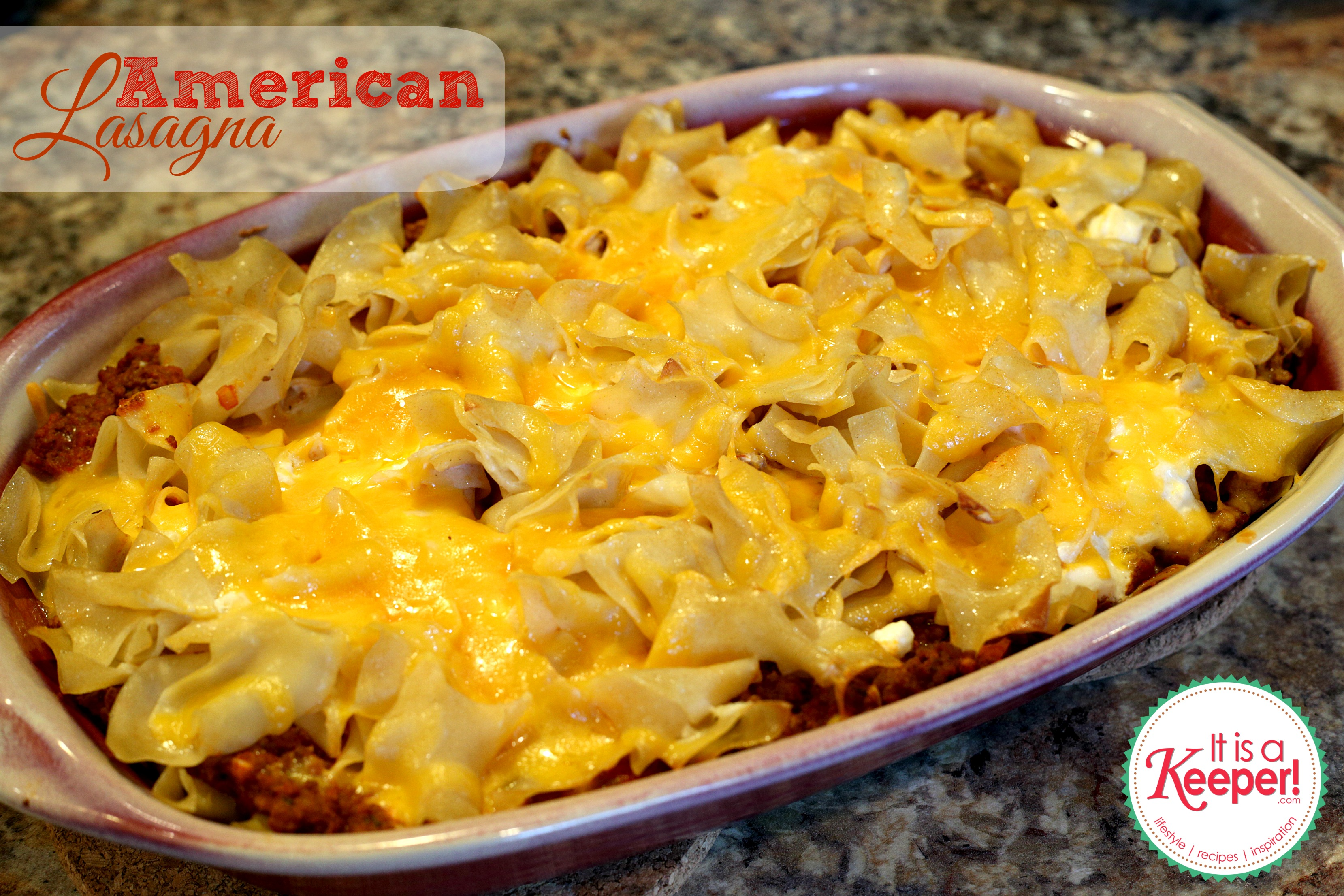Easy Dinner Ideas: American Lasagna - it's a keeper