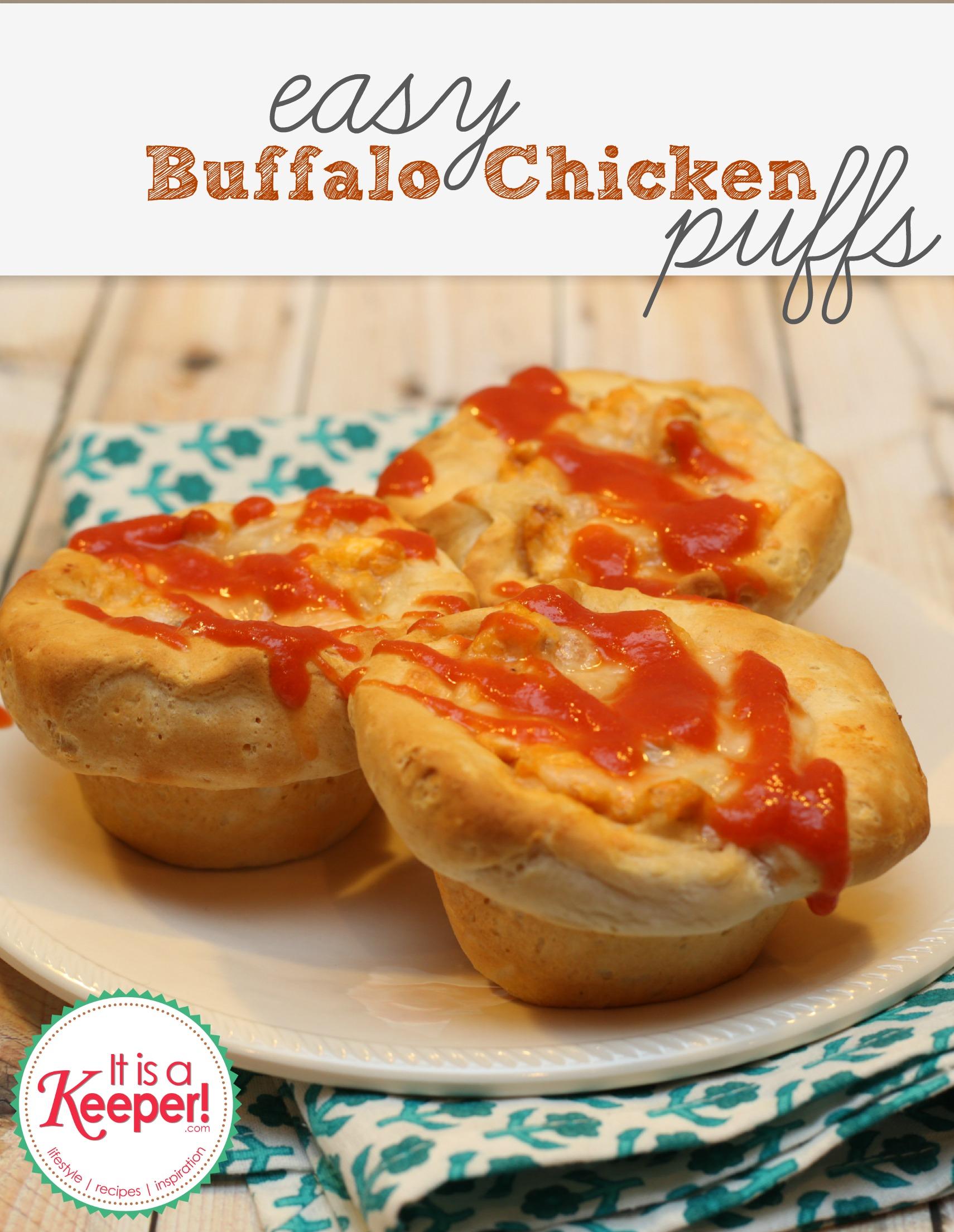 Easy Dinner Ideas: Buffalo Chicken Puffs