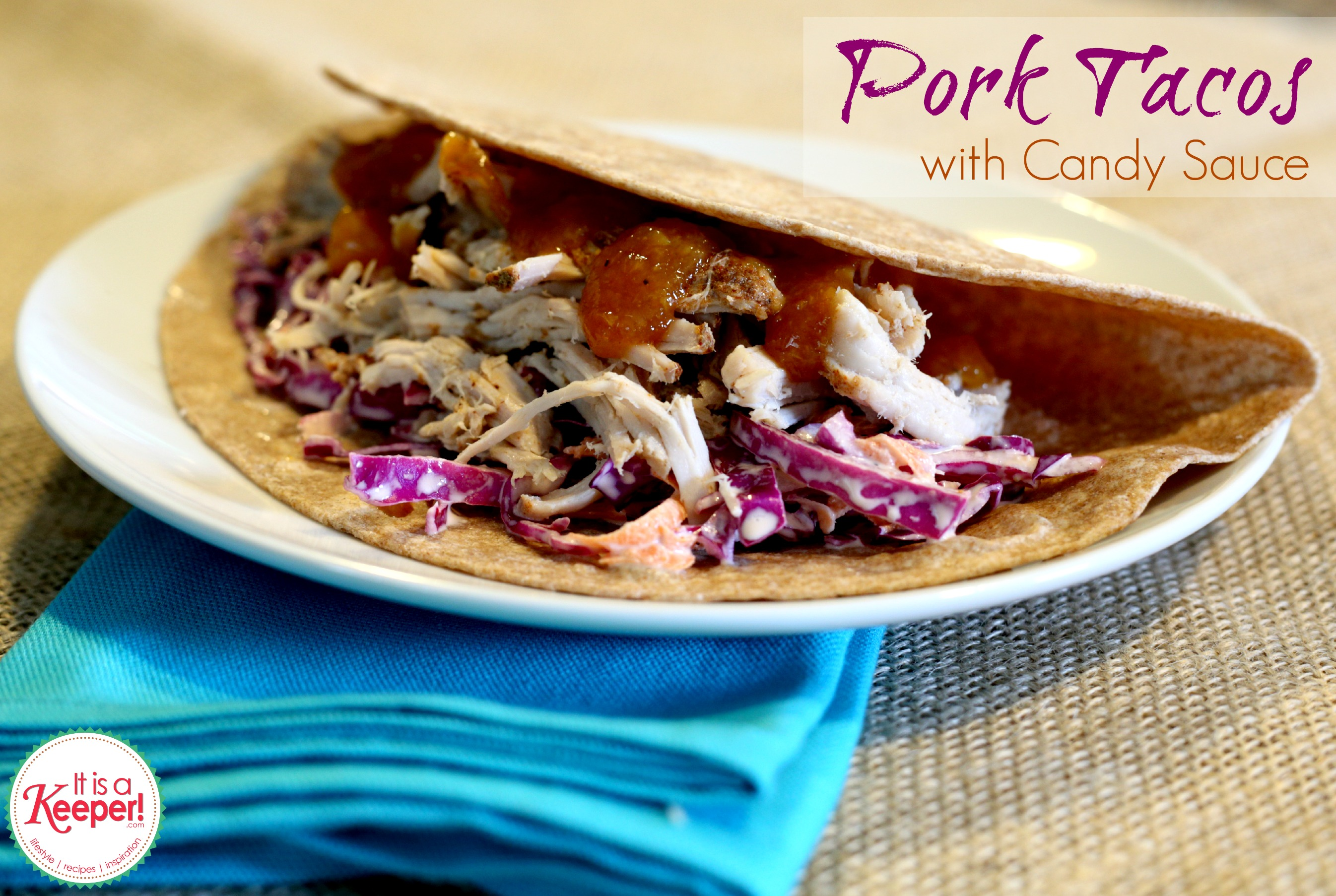 Slow Cooker Pulled Pork Tacos from It's a Keeper