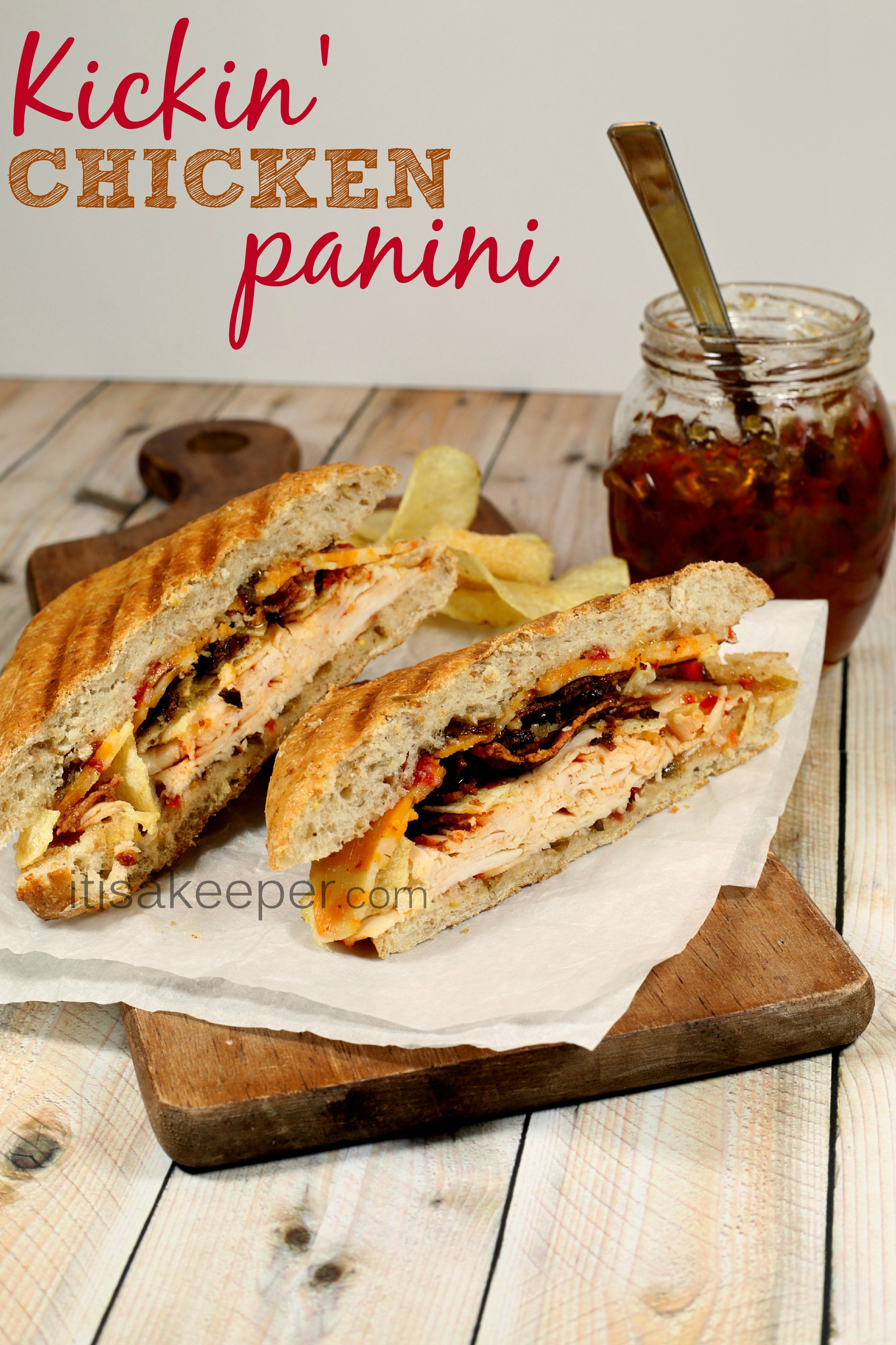 Kickin Chicken Panini from It's a Keeper