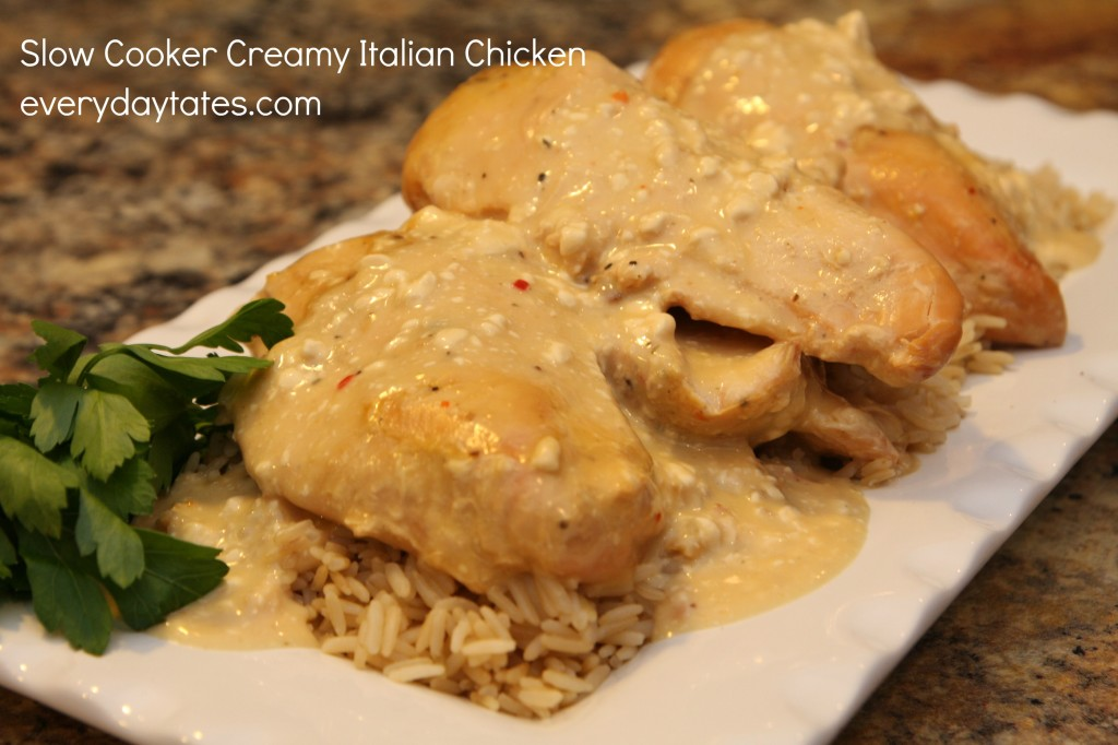 This Slow Cooker Creamy Italian Chicken is one of my favorite crock pot recipes for chicken.