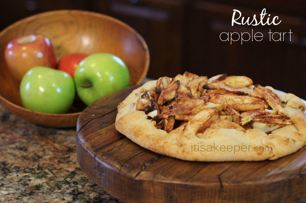 Easy Desserts Rustic Apple Tart from It's a Keeper