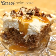 quick easy dessert recipes Carrot Poke Cake from It's a Keeper