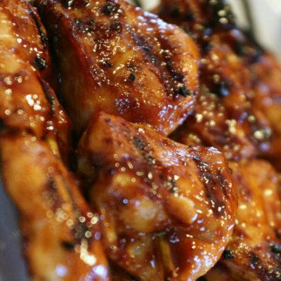 Grilled Sticky Chicken Skewers
