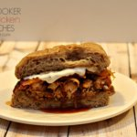 Slow Cooker BBQ Chicken Melt Sandwiches