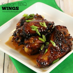 Korean BBQ Wings - These sticky sweet and savory wings are CRAZY GOOD! It's my favorite easy wing recipe