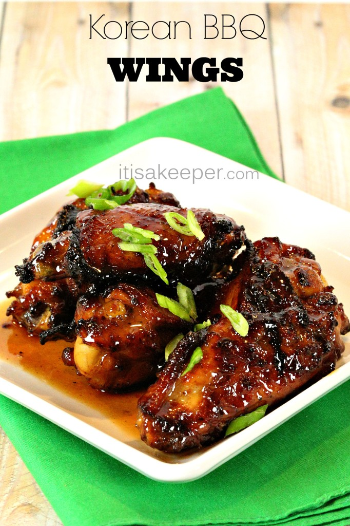 Korean BBQ Wings - These sticky sweet and savory wings are CRAZY GOOD! It's my favorite easy wing recipe H