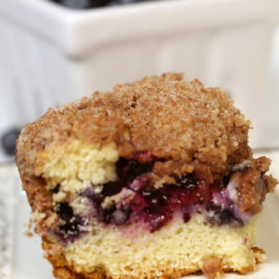 The BEST Blueberry Coffee Cake