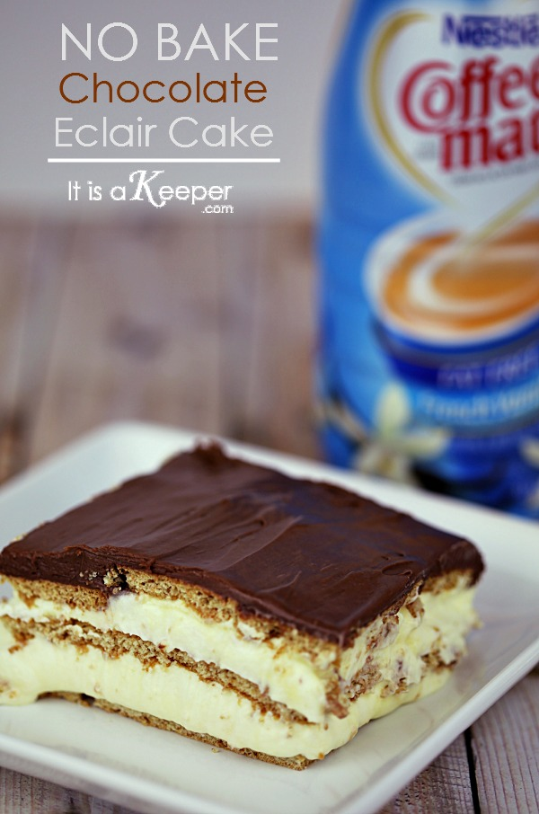 No Bake Desserts: Easy Chocolate Eclair Cake - It Is a Keeper