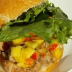 crockpot mango pulled pork sandwiches pin