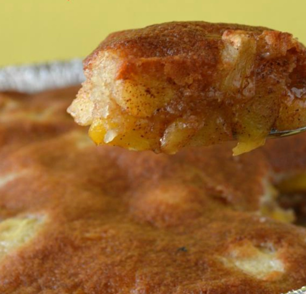 Grilled Peach Apple Cobbler