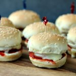 Mini Pizza Sandwiches by Cravings of a Lunatic | These Mini Pizza Sandwiches are easy and quick. Perfect for tailgate parties, as well as a light lunch or quick snack.