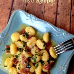 Gnocchi with Speck Ham in Butter Garlic Sauce - It's a Keeper