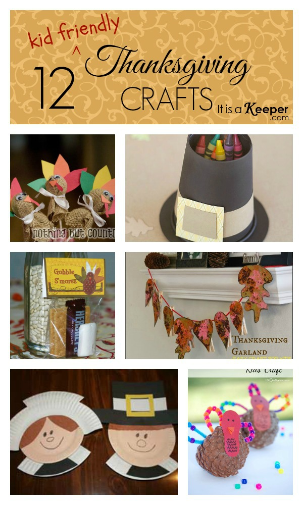 12 easy Thanksgiving Crafts to keep your kids entertained!