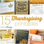 15 Thanksgiving Printables