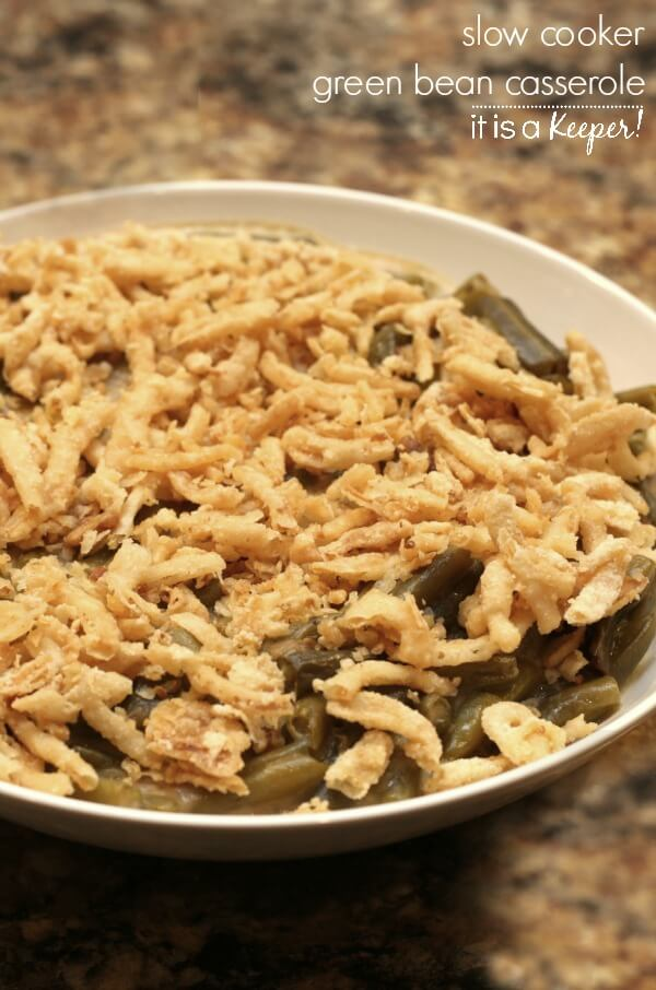 Slow Cooker Green Bean Casserole – an easy and delicious crock pot recipe